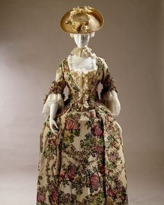 A Huguenot spun silk dress 1700s London