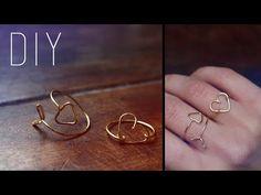 DIY - tutoriel : Bague en fil de laiton en forme de fleche et de coeur Wire arrow - heart ring En français with english subtitles