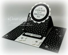 #2 Easel Card Black
