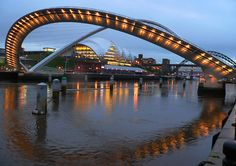 Millennium Bridge and The Sage, Gateshead UK