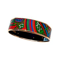 Store fresh. Pristine condition.  Perfect gift! Comes full set with Hermes box and velvet pouch.  Gorgeous colorful printed enamel bracelet perfect