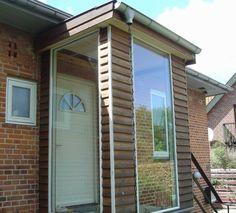 Vindfang - New Ideas Pole Barns Direct, Metal Pole Barns, Sas Entree, Building A Pole Barn, Basement Entrance, Entry Bench, Vestibule, Front Entrances, House Extensions