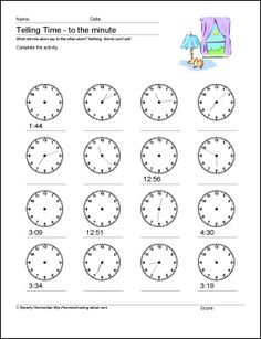 TELLING THE TIME | English | Pinterest | Englisch
