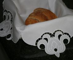 Beautiful Cutwork Design To Use On Any Project You Wish... We Show It Here On A Bread Basket Liner.