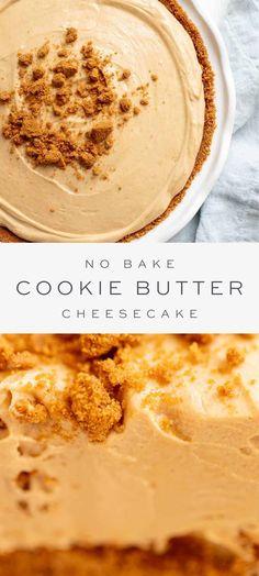 Sugar Cookie Cheesecake, No Bake Sugar Cookies, No Bake Cookie Dough, Cookie Butter, Homemade Cheesecake, Cheesecake Recipes, Cheesecake Bars, Make Ahead Desserts, No Bake Desserts