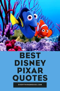 Best Disney Pixar Movie quotes for life. We all know we have to Just Keep Swimming, but what other Disney Pixar quotes are the best? Up Movie Quotes, Pixar Quotes, Disney Movie Quotes, Best Disney Pixar Movies, Disney Princess Movies, Buzz Lightyear Quotes, Disney Quotes To Live By, Brave Movie, Guess The Movie