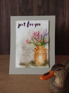 Just for you card by Melodie.  Art Impressions with Altenew sentiment.