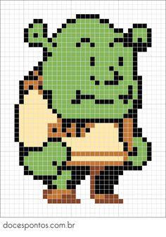 Shrek perler bead pattern