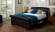 If you're looking for contemporary style and luxurious comfort, look no further than our Santino faux leather bed frame. Upholstered in durable coated leather, this bed is both beautiful and practical.