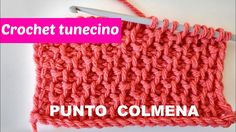 Crochet tunecino punto colmena