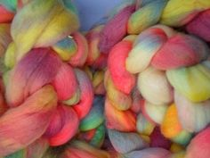 Merino Wool Roving  Hand dyed Spinning Fiber by SussesSpindehjrne, $6.60