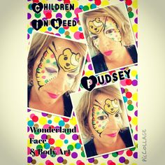 Children in need face paint