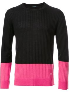 Guild Prime ribbed colour block jumper