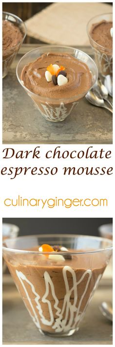 Dark chocolate espresso mousse The Ultimate Party Week 46