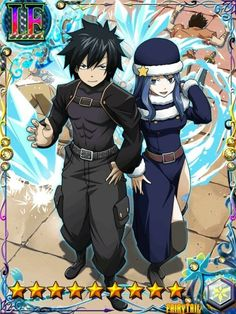 Fairy tail brave guild cards Gray and juvia