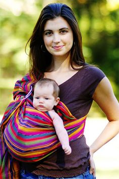 Benefits of baby wearing.