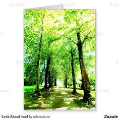 'Look Ahead' card Woodland card #intothewoods