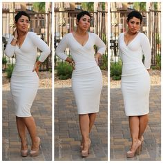 DIY Winter White Dress + Pattern B5950 |Mimi G Style: DIY Fashion Sewing