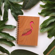 """Handcrafted wood cover journal for all your brilliant ideas. A perfect gift for any age! - 5.25"""" x 7.25"""" (5""""x7"""" pages) - 80 blank white sheets / 160 pages - Navy leatherette back cover with gold logo"""