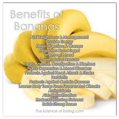 The Science Of Eating - Bananas are one of the most widely consumed fruits in the world for good reason. The curved yellow fruit packs a big nutritional punch, wrapped in its own convenient packaging. Healthy Tips, How To Stay Healthy, Healthy Foods, Eating Healthy, Healthy Drinks, Clean Eating, Bullet Smoothie, Banana Benefits, Detox
