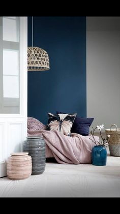 Navy in bedroom- http://jensen-beds.com/ like this