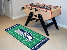 "Seattle Seahawks Runner 30""x72"" by Fanmats. $39.27. Seattle Seahawks Runner 30""x72""For all those football fans out there: football field-shaped area rugs by FANMATS. Made in U.S.A. 100% nylon carpet and non-skid recycled vinyl backing. Machine washable. Officially licensed. Chromojet printed in true team colors. Please note: These products are custom made. The normal lead time is about 7-10 business days. However, the putting mats and carpet tiles do take a little longer, ab..."