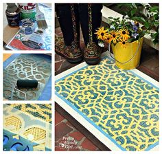 how to stencil a DIY patterned rug by @Brittany (aka Pretty Handy Girl)