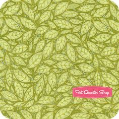 A Garden For Olivia Green Leaves Yardage SKU# 5LEC2 fat quad shop