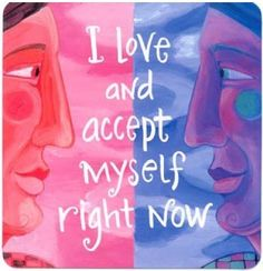 """I love and accept myself right now."" Wisdom Cards - Affirmations - Louise Hay"