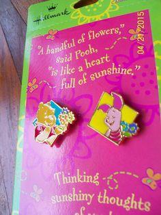 Hallmark Disney Pin Pair Winnie the Pooh & Piglet Jewelry Pins MOC New