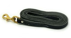 """3/4"""" wide 6' long Amish made leather leash."""