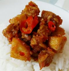 """Indonesian stir-fry chili 'tempe' and tofu ~ Lombok style ! """"For those who loves spicy perhaps this simple dish is good for a try.. i love it """"  @allthecooks #recipe #dinner #chicken #easy #indonesian #tofu"""