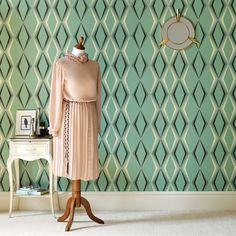 Deco Diamond Wallpaper - Wallpaper - Graham & Brown