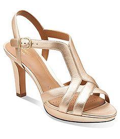 01a9f274344 Clarks Delsie Risa Dress Sandals  Dillards Dress Sandals