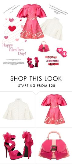 """""""Happy Valentine's Day!"""" by maitepascual ❤ liked on Polyvore featuring Alexander McQueen, Christian V Siriano, Anya Sushko, women's clothing, women, female, woman, misses, juniors and happyvalentinesday"""
