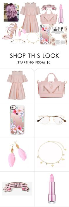 """""""Untitled #34"""" by iulianaenache526 on Polyvore featuring Jovonna, Kenzo, Casetify, Ray-Ban, Jules Smith, Express and Casadei"""