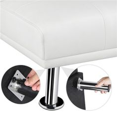 LuxuryGoods Modern Faux Leather Futon Sofa Bed Home Recliner Couch, White - Walmart.com - Walmart.com Sofa Bed Home, Futon Sofa Bed, Recliner, Couch, White Futon, Leather Futon, Guest Bed, Artificial Leather, Home Furniture