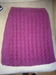 Knitted skirt from klompelompe