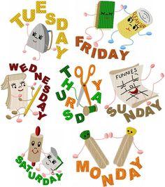 Household Helpers (800x709) Days of the Week