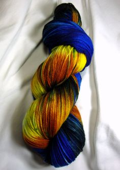 Blue Box Exploding - Yarn Dyed on Demand  - why, oh why, nerd girl, do you not offer this on a 100% wool base???