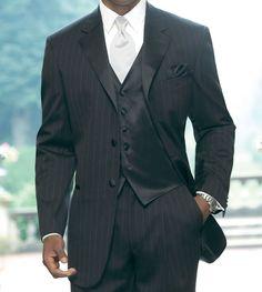 White tie black vest. Elitesuits.com