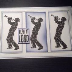 Visible Image stamps - Play It Loud - Trumpet Player - Hazel Eaton