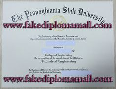 the Pennsylvania State University degree, www.fakediplomamall.com