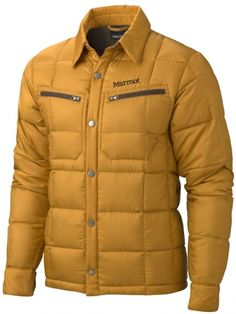 Marmot Tuner Jacket. The Tuner is a modern take on an old-school classic, with a 100% recycled polyester face and vintage down shirt styling. Insulated with super warm 650-fill down, the jacket works as outerwear, or can be worn as a solid midlayer for below zero days. Zippered chest pockets, snap front and snap cuffs keep it real. $165
