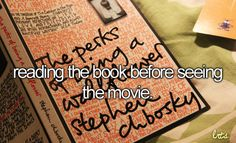 seeing the movie reading the book is just wrong.I try to break this rule as infrequently as possible lol