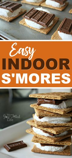 Enjoy s'mores anytime of year by making them inside! Check out how easy it is to make s'mores in the oven. They turn out better than making them the old-fashioned way.