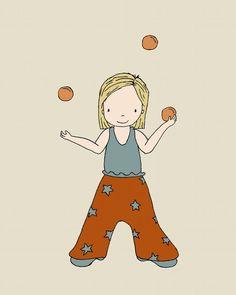 Circus Nursery Art Little Juggler 8x10 by SweetMelodyDesigns