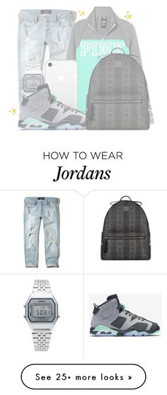 """""""""""BIG BANK"""""""" by mykail2xx on Polyvore featuring Hollister Co., Victoria's Secret, Casio, NIKE and MCM"""