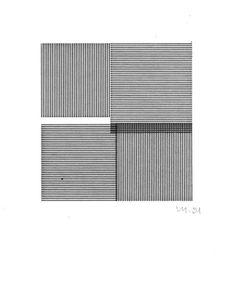 Vera Molnar - Quatre carrès (Four Squares)