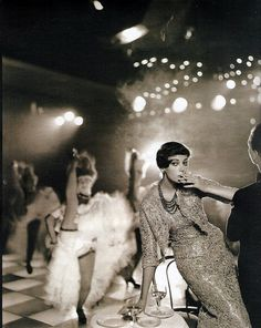 by Avedon for Harper's Bazaar at Folies Bergere, Paris, 1957